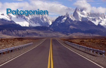 Anfahrt El Chalten - Mit den bekannten Bergspitzen Cerro Torre und Fitz Roy